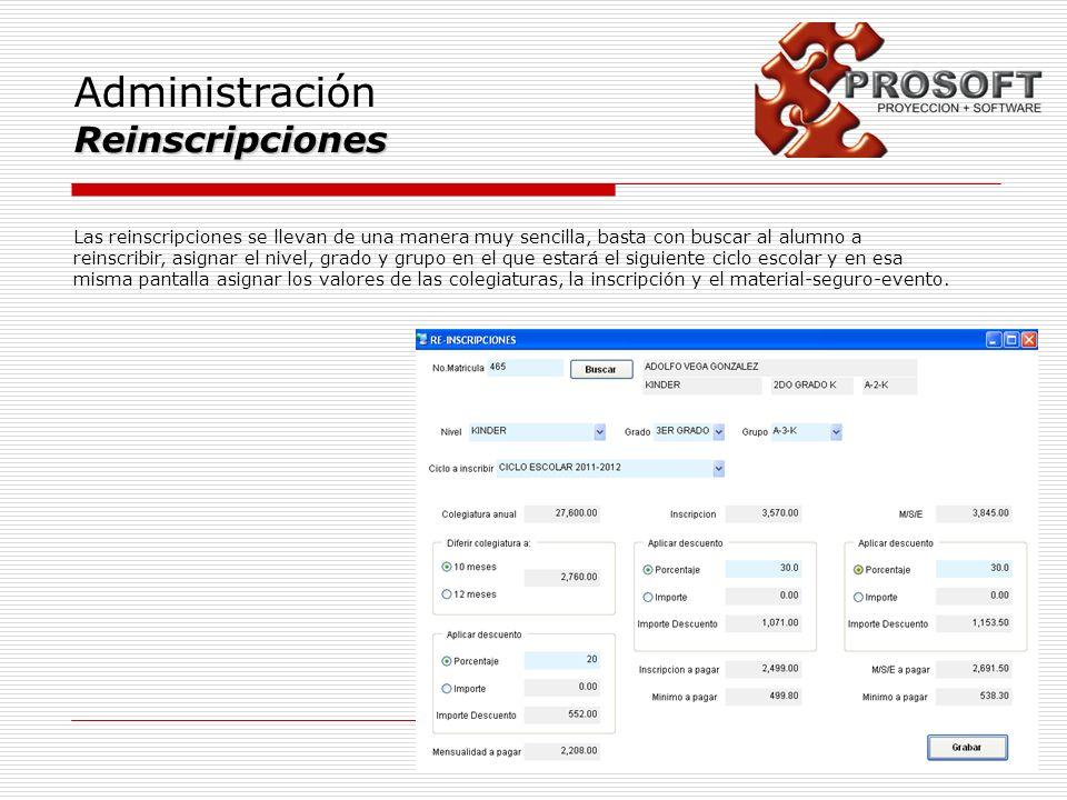 Administración Reinscripciones