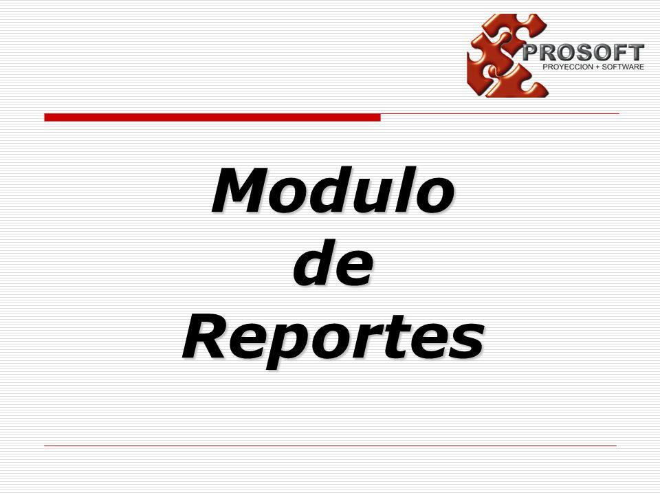 Modulo de Reportes