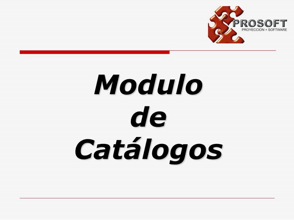 Modulo de Catálogos