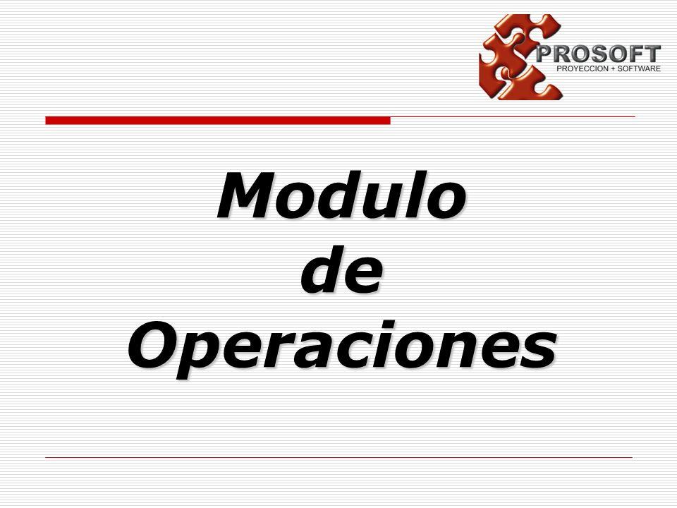 Modulo de Operaciones