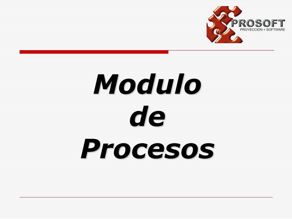 Modulo de Procesos