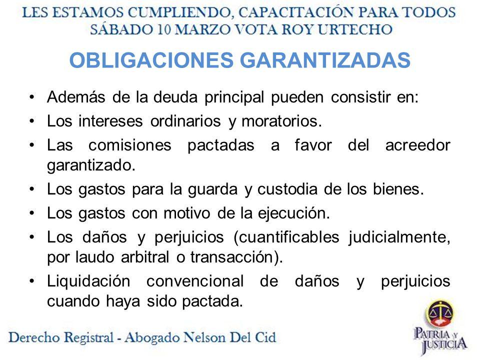 OBLIGACIONES GARANTIZADAS