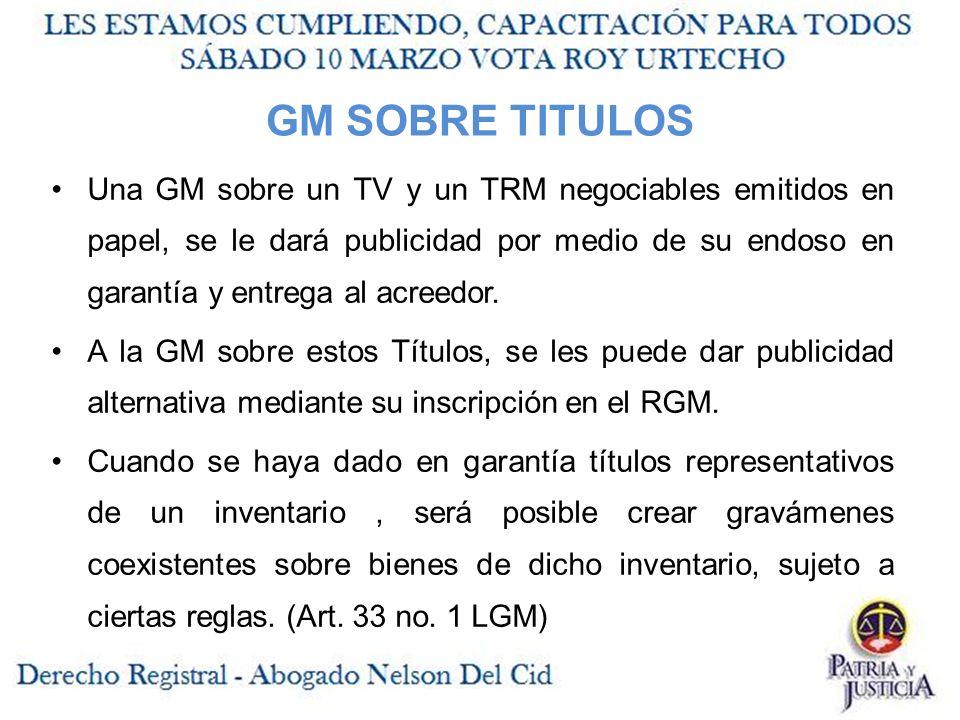 GM SOBRE TITULOS