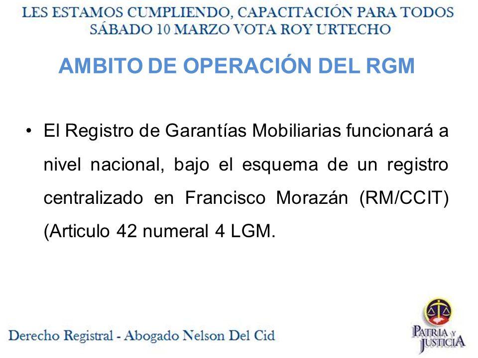 AMBITO DE OPERACIÓN DEL RGM