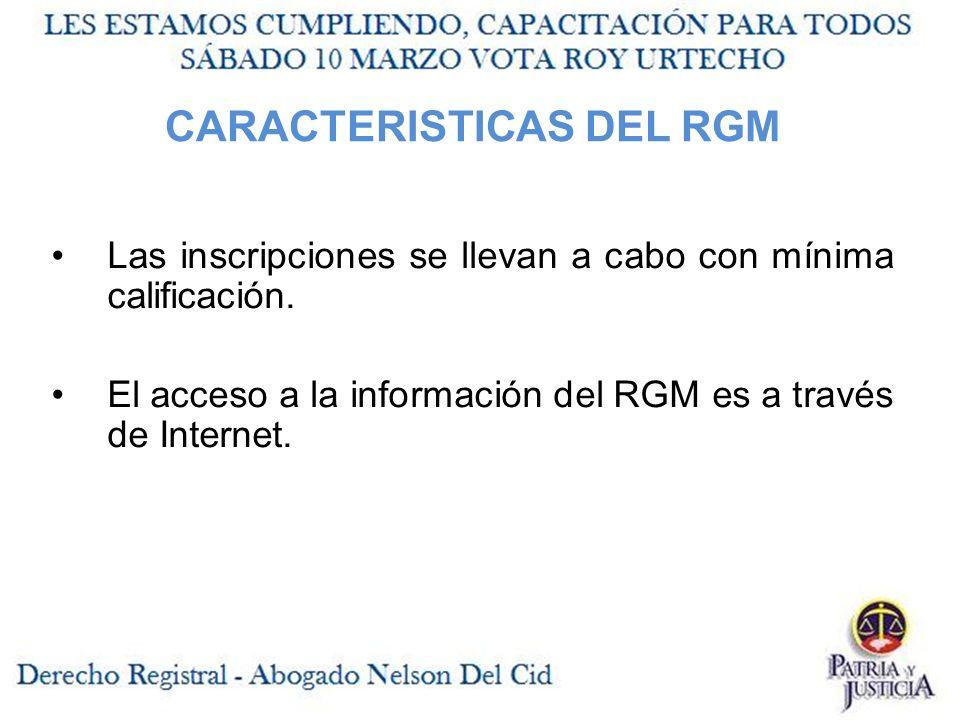 CARACTERISTICAS DEL RGM