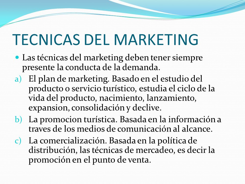 TECNICAS DEL MARKETING