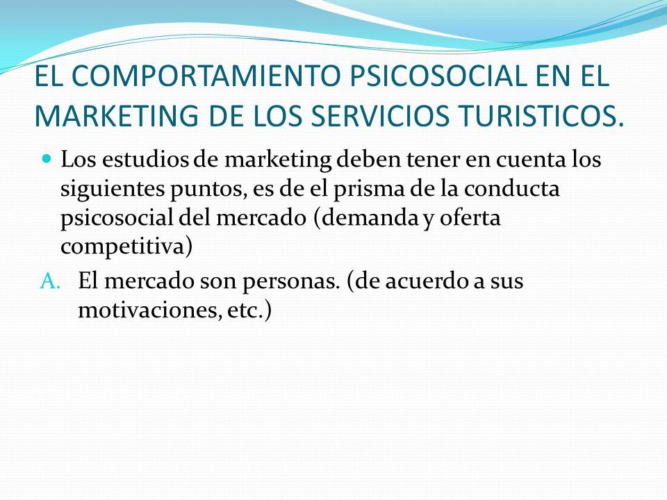 EL COMPORTAMIENTO PSICOSOCIAL EN EL MARKETING DE LOS SERVICIOS TURISTICOS.