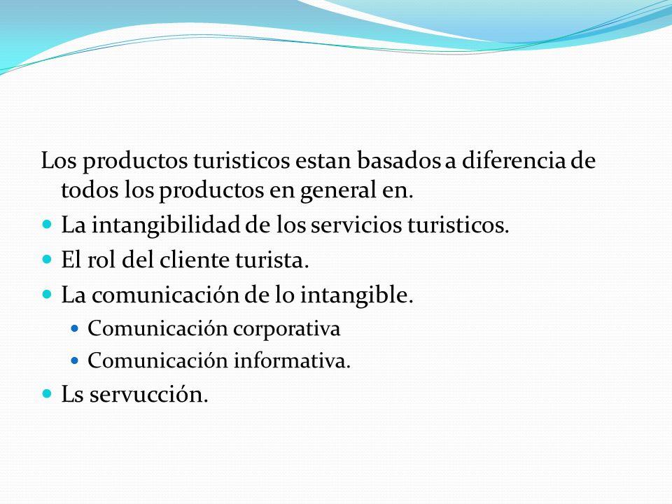 La intangibilidad de los servicios turisticos.