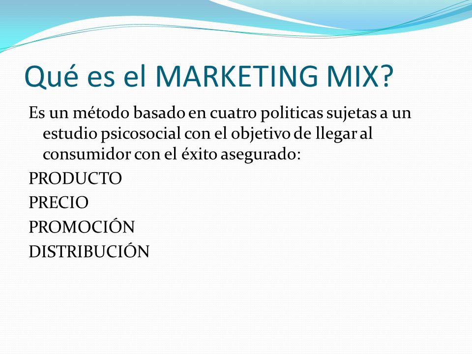 Qué es el MARKETING MIX