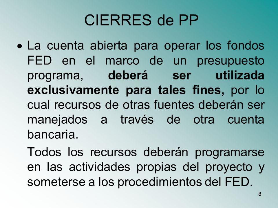 CIERRES de PP