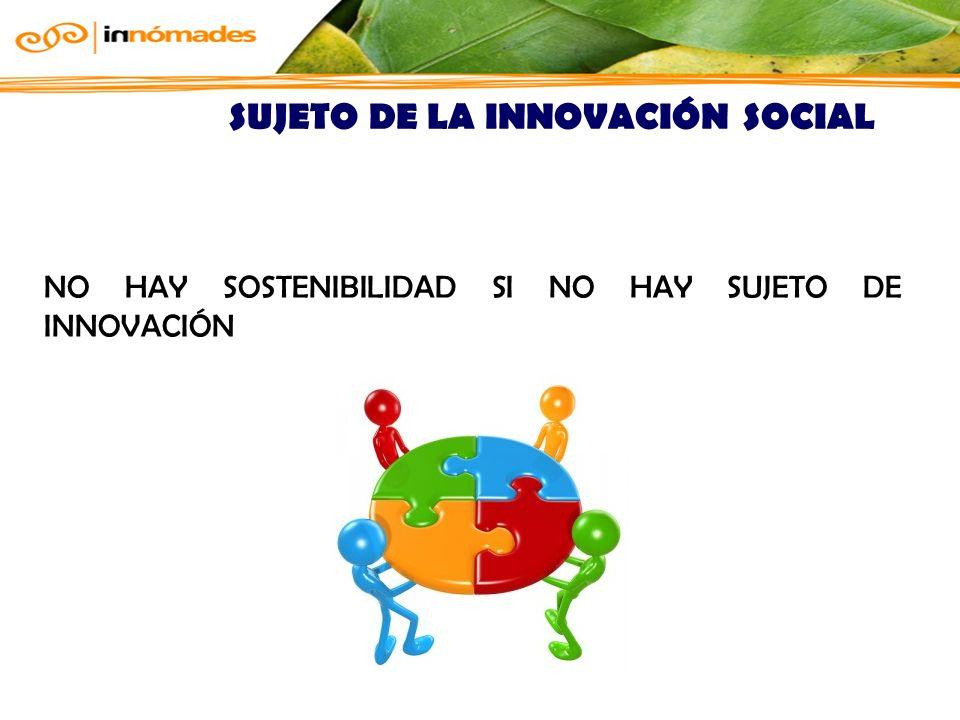 SUJETO DE LA INNOVACIÓN SOCIAL