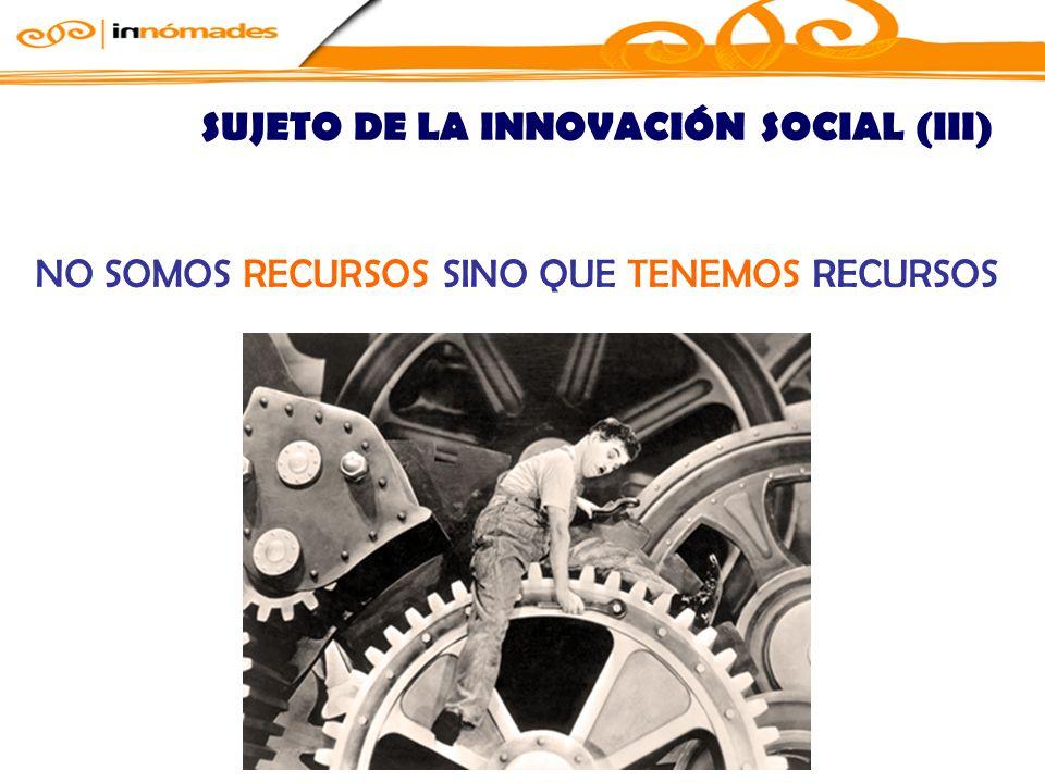 SUJETO DE LA INNOVACIÓN SOCIAL (III)