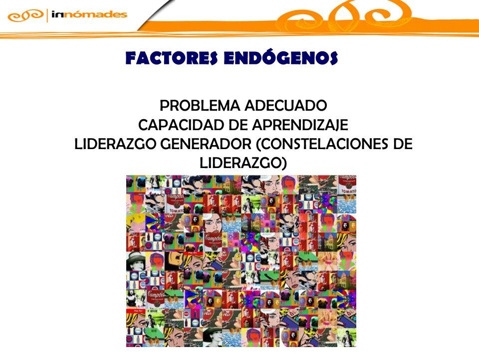 FACTORES ENDÓGENOS PROBLEMA ADECUADO CAPACIDAD DE APRENDIZAJE