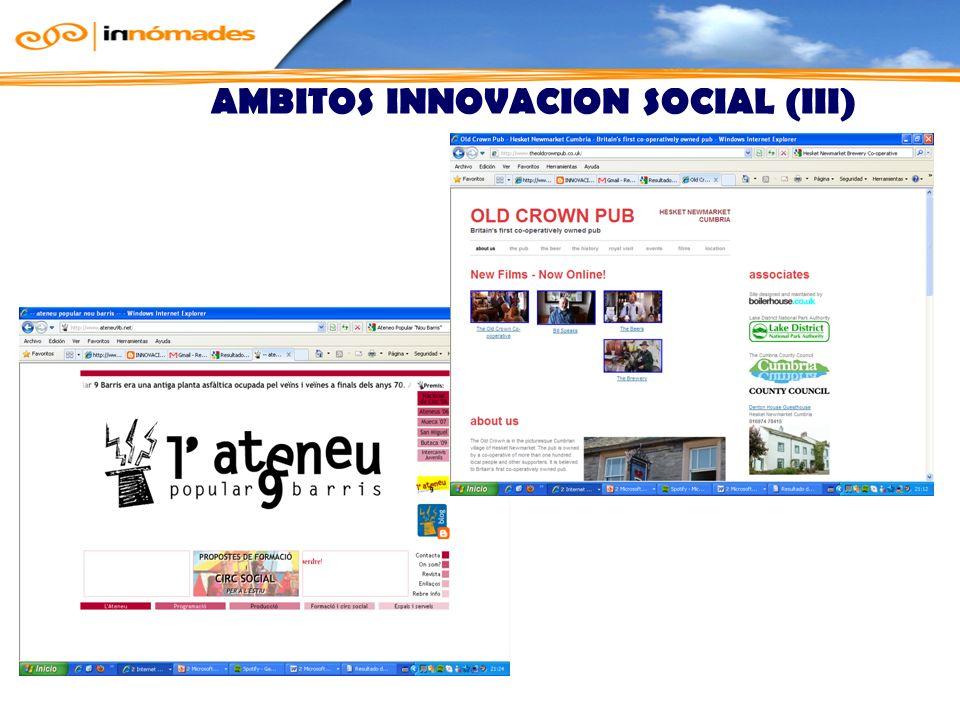 ÁMBITOS INNOVACIÓN SOCIAL (III)