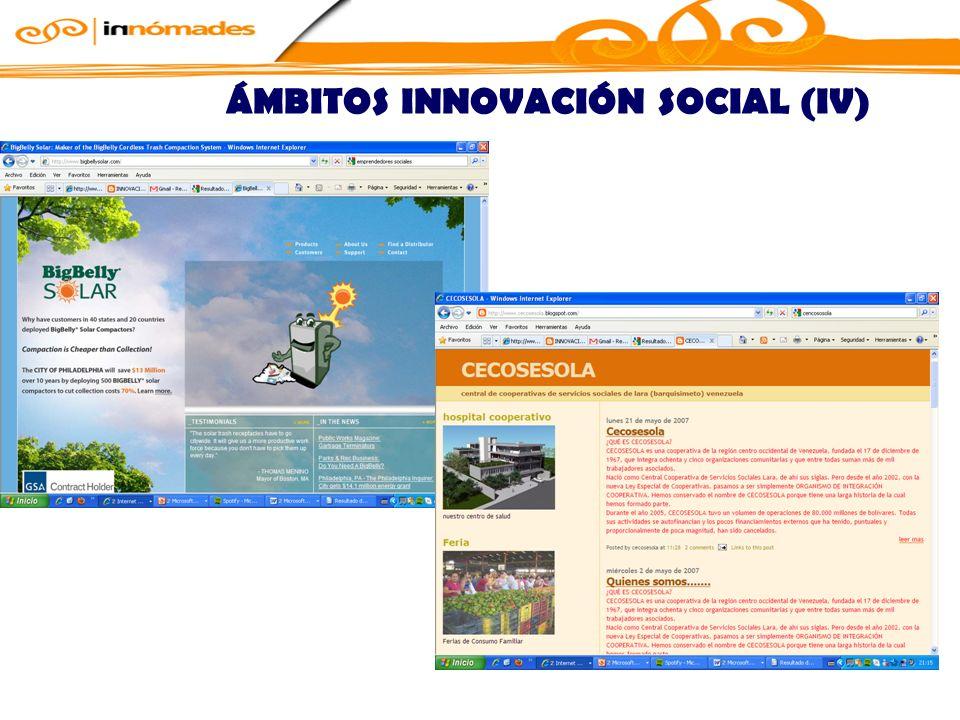 ÁMBITOS INNOVACIÓN SOCIAL (IV)