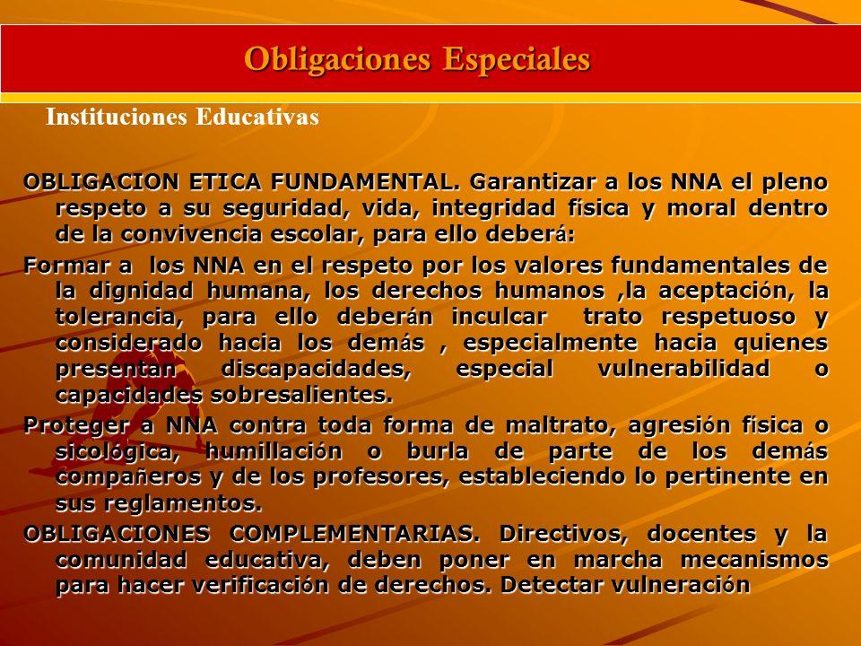 Obligaciones Especiales