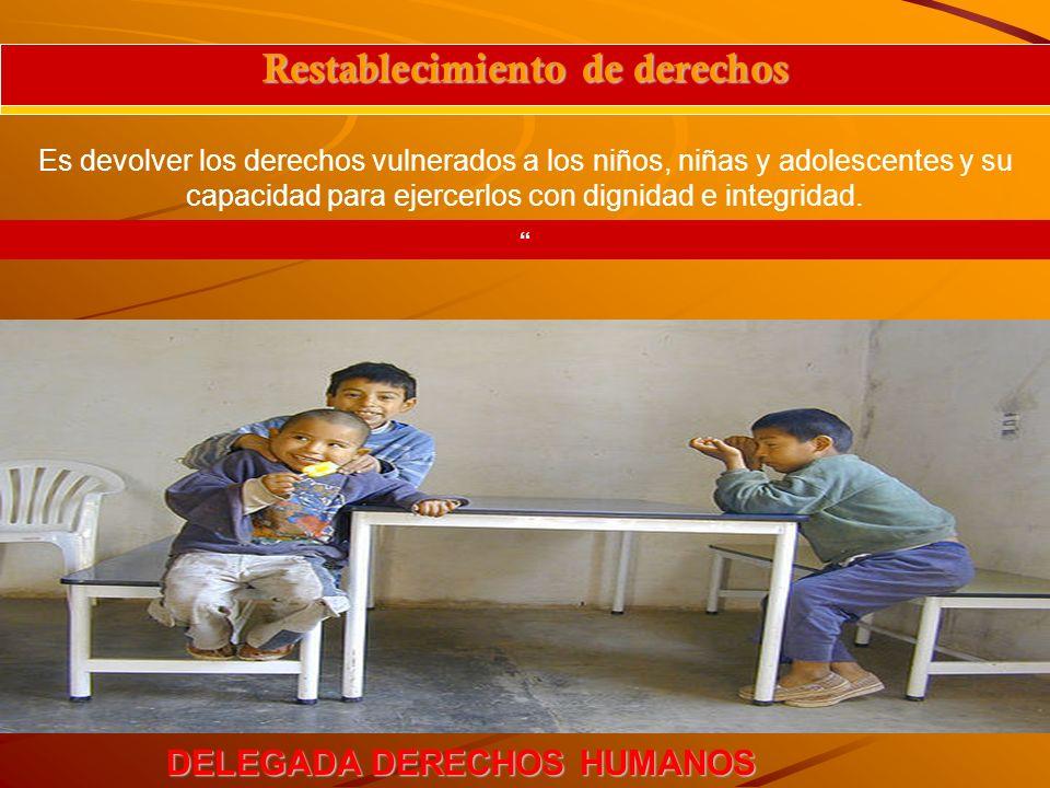 Restablecimiento de derechos DELEGADA DERECHOS HUMANOS