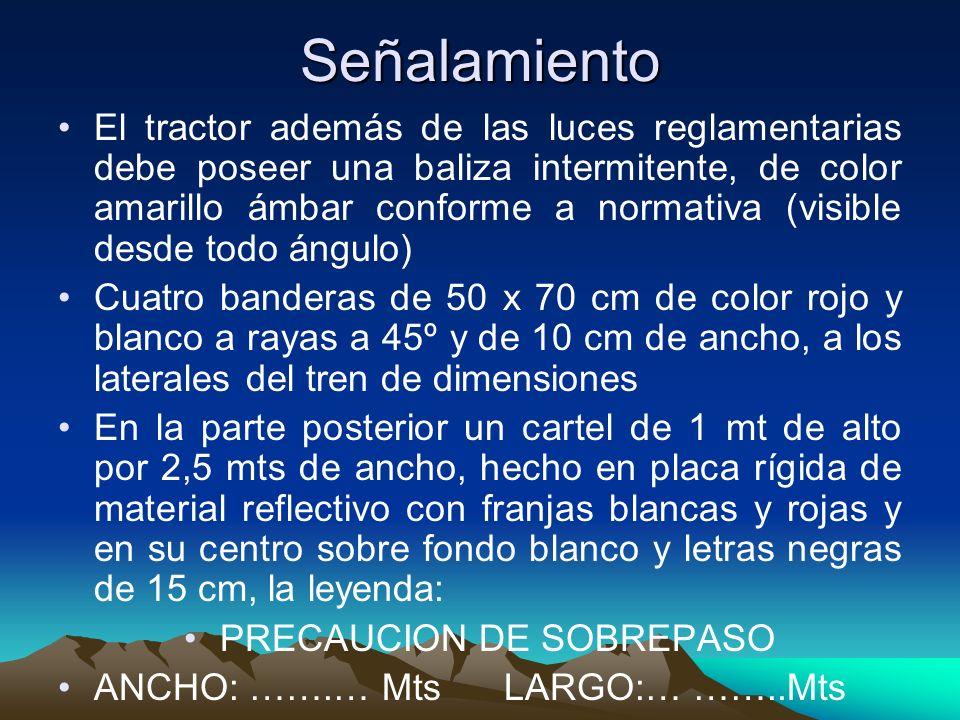PRECAUCION DE SOBREPASO