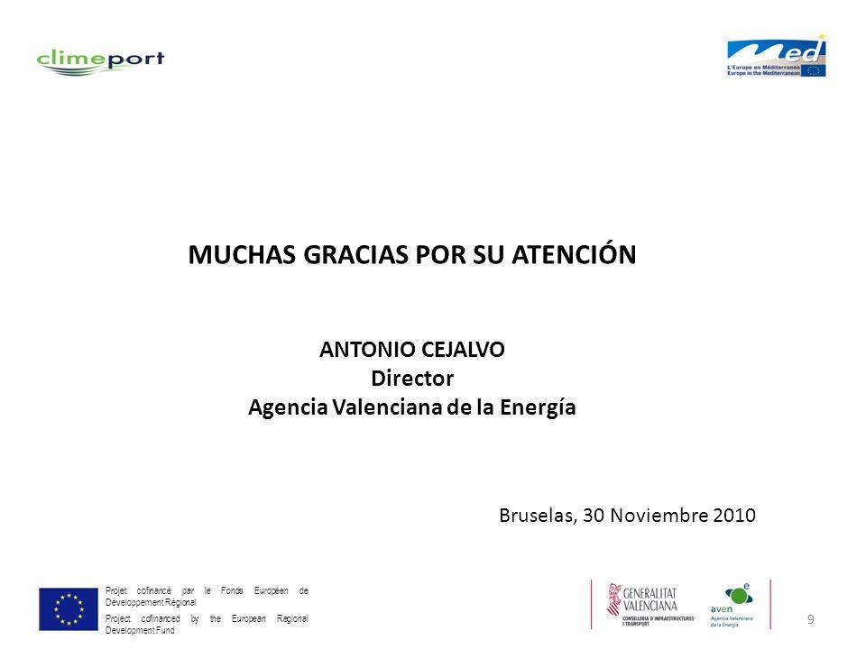 MUCHAS GRACIAS POR SU ATENCIÓN Agencia Valenciana de la Energía