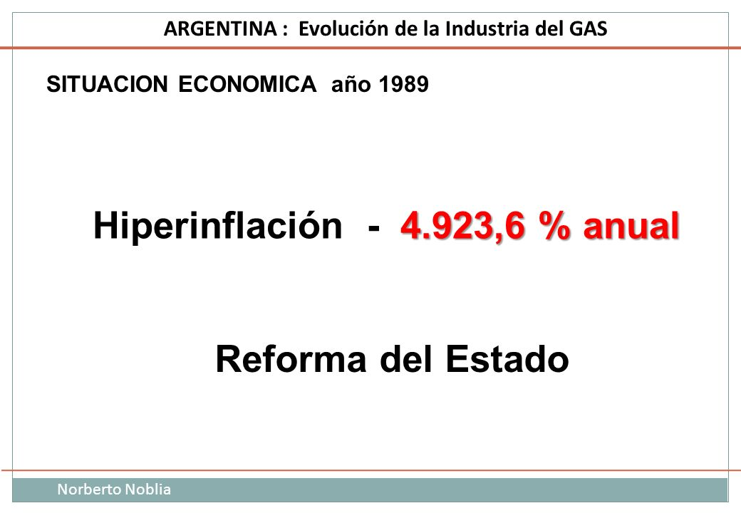 Hiperinflación - 4.923,6 % anual