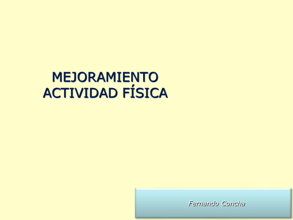 MEJORAMIENTO ACTIVIDAD FÍSICA