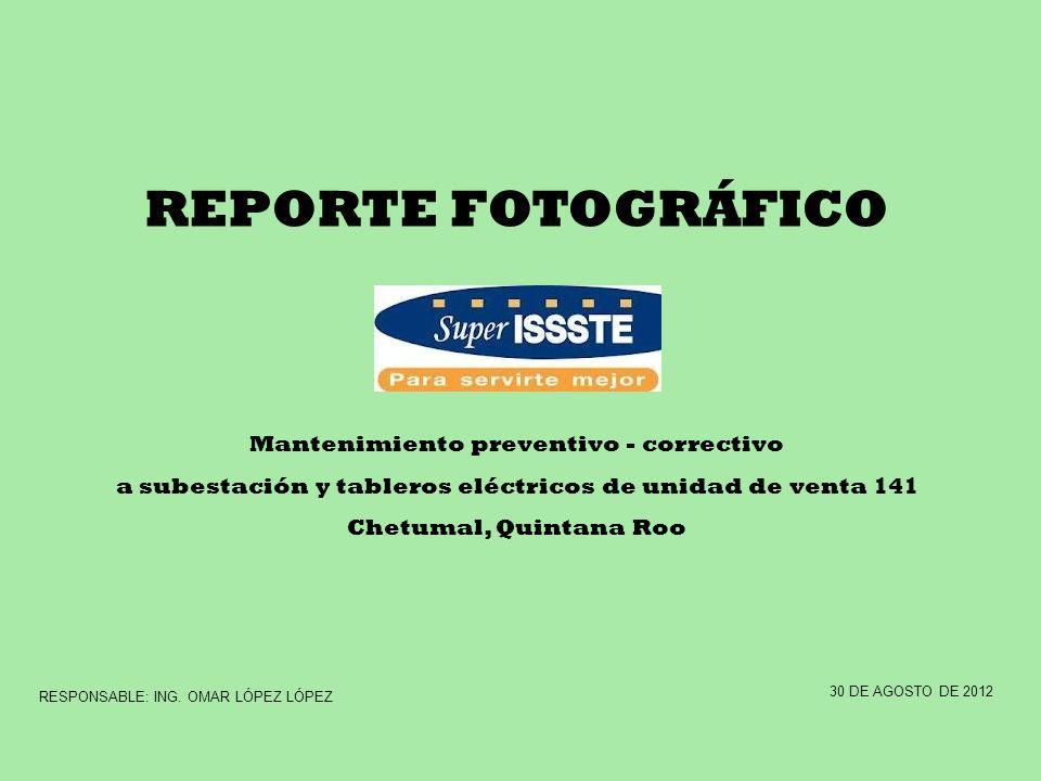 REPORTE FOTOGRÁFICO Mantenimiento preventivo - correctivo