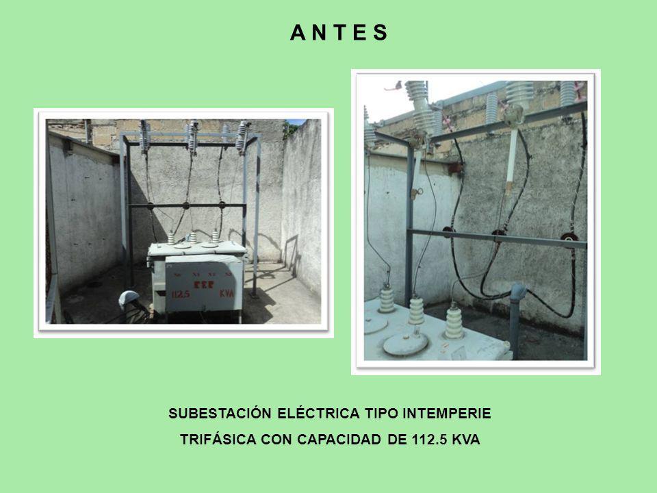A N T E S SUBESTACIÓN ELÉCTRICA TIPO INTEMPERIE