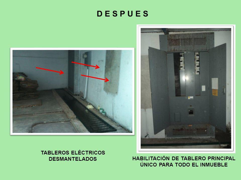 D E S P U E S TABLEROS ELÉCTRICOS DESMANTELADOS