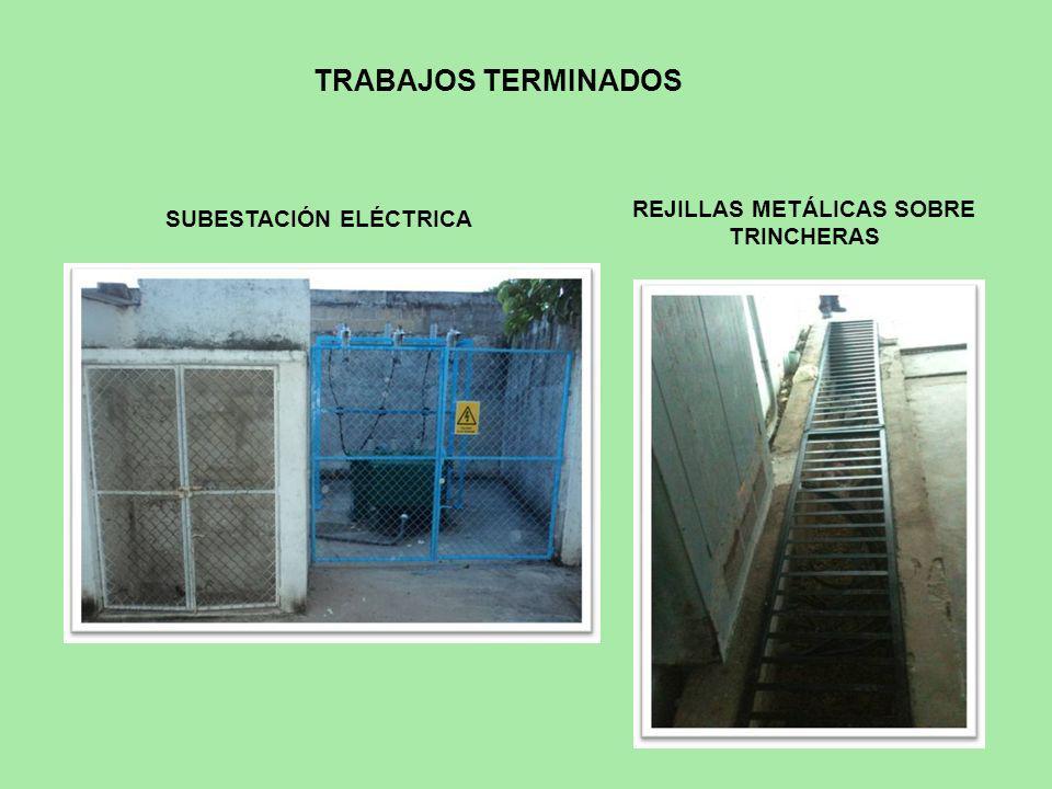 REJILLAS METÁLICAS SOBRE TRINCHERAS SUBESTACIÓN ELÉCTRICA