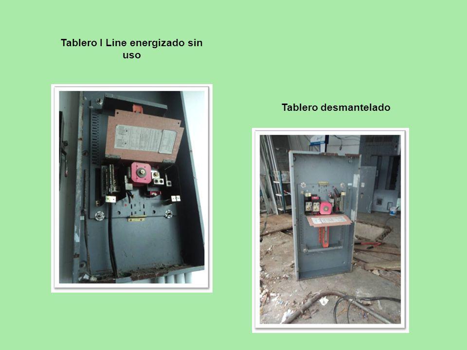 Tablero I Line energizado sin uso