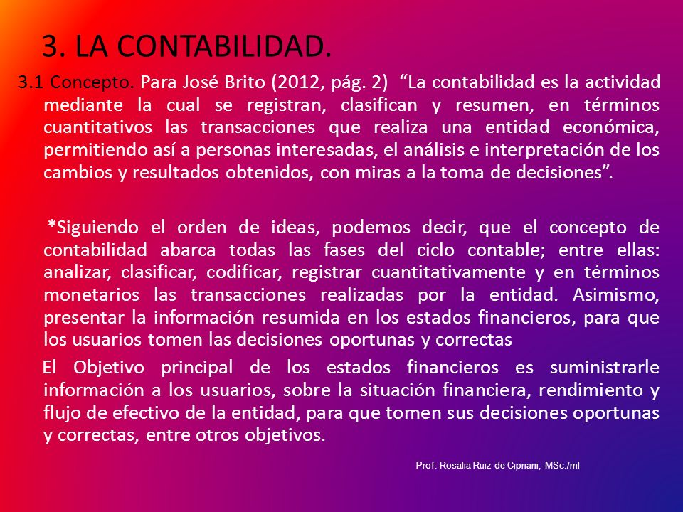 3. LA CONTABILIDAD.