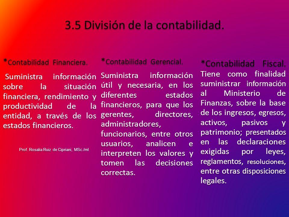 3.5 División de la contabilidad.