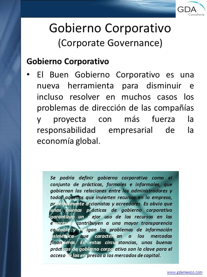 Gobierno Corporativo (Corporate Governance)