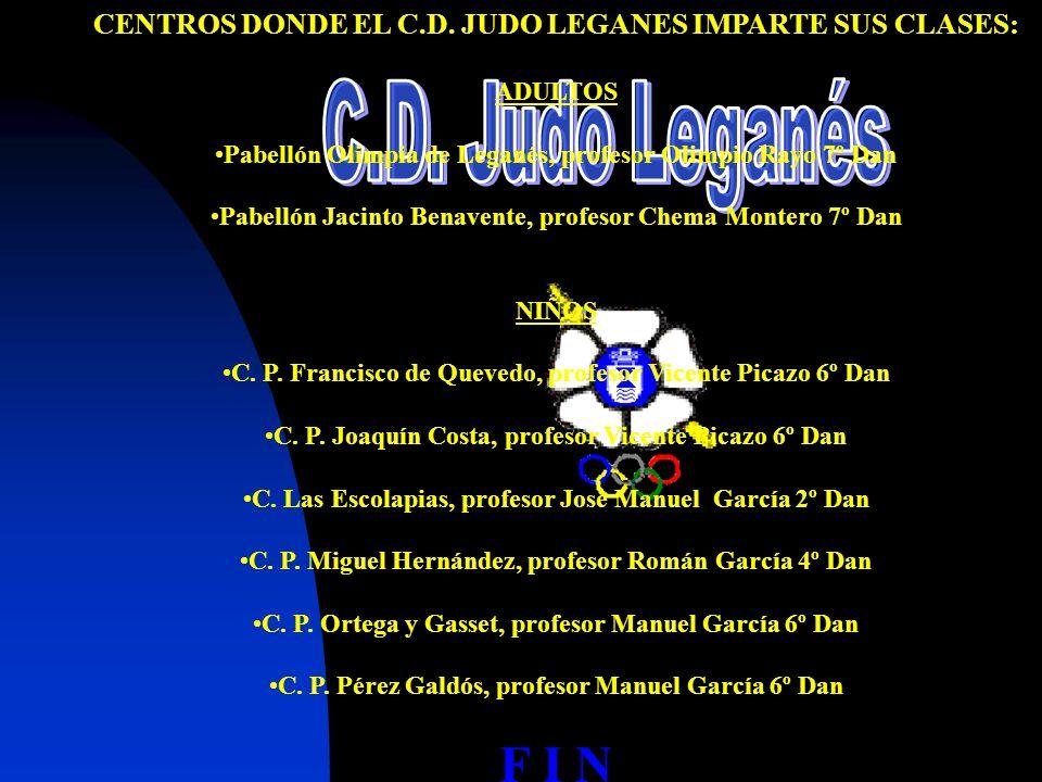 C.D. Judo Leganés F I N REALIZACIÓN: Manuel García