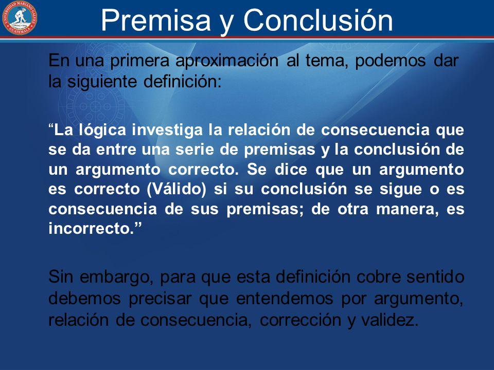 Premisa y Conclusión
