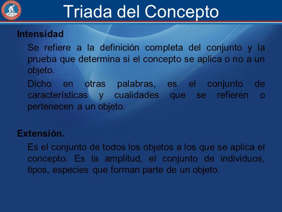 Triada del Concepto