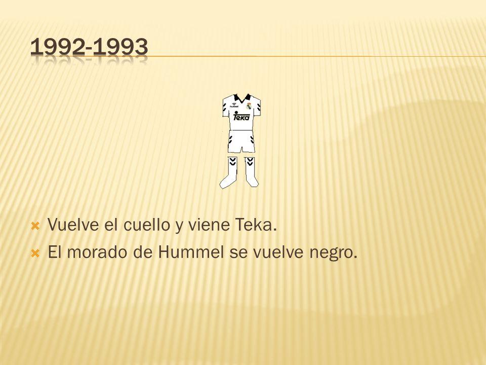 1992-1993 Vuelve el cuello y viene Teka.