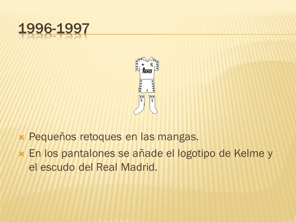 1996-1997 Pequeños retoques en las mangas.