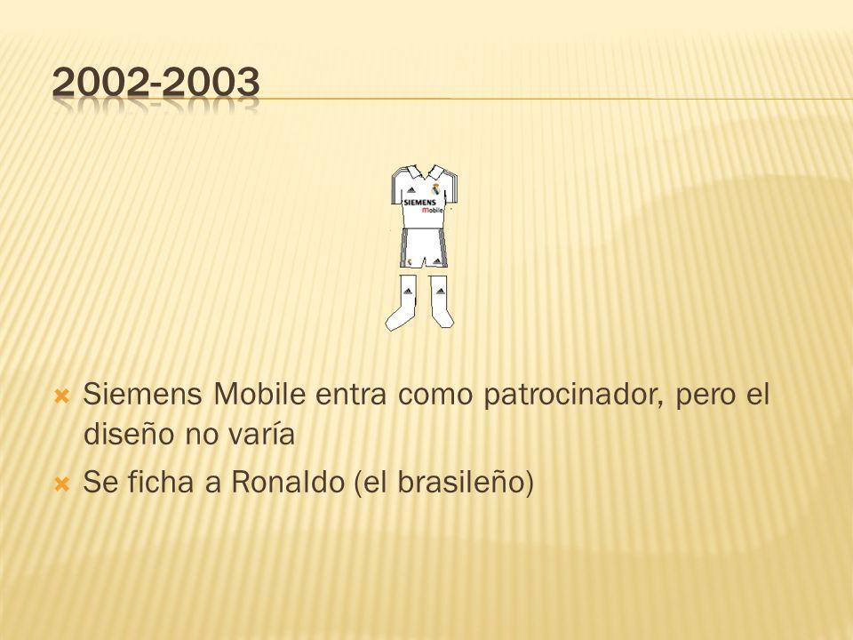 2002-2003Siemens Mobile entra como patrocinador, pero el diseño no varía.
