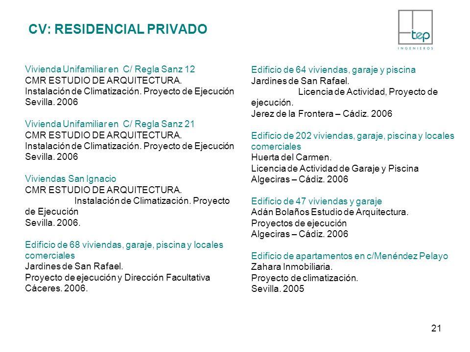 CV: RESIDENCIAL PRIVADO