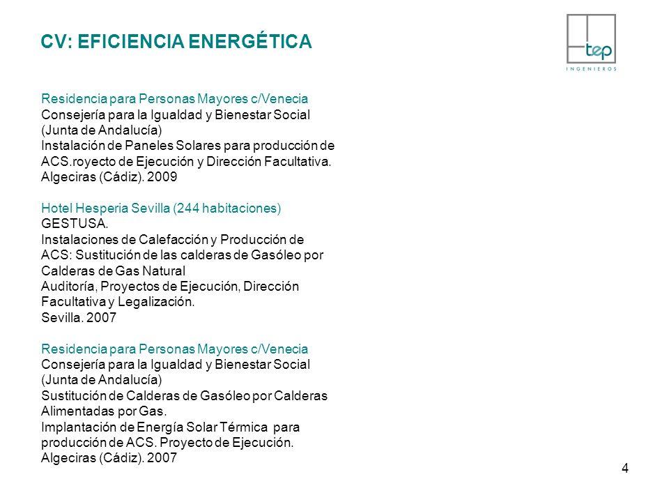 CV: EFICIENCIA ENERGÉTICA