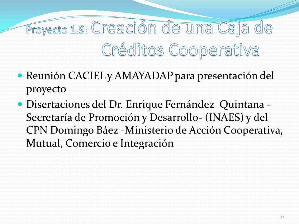 Proyecto 1.9: Creación de una Caja de Créditos Cooperativa