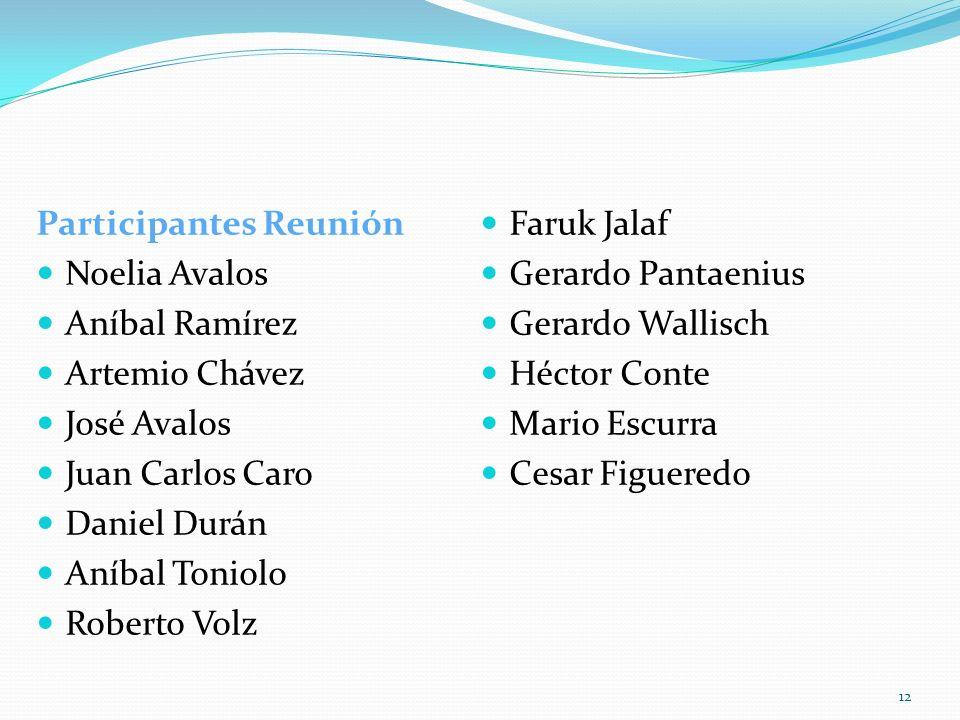 Participantes Reunión