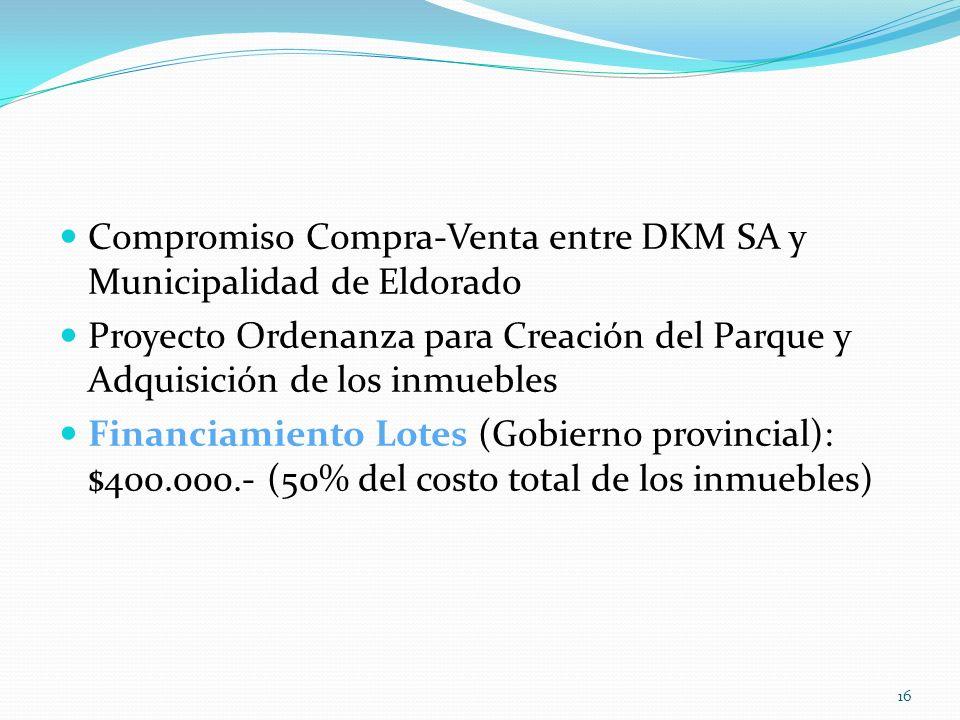 Compromiso Compra-Venta entre DKM SA y Municipalidad de Eldorado