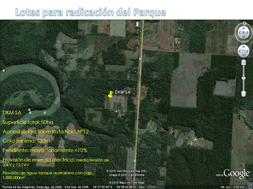 Lotes para radicación del Parque