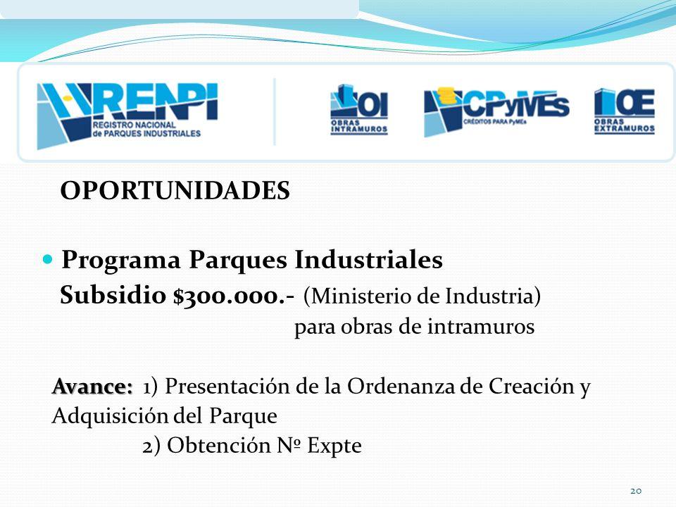 Programa Parques Industriales