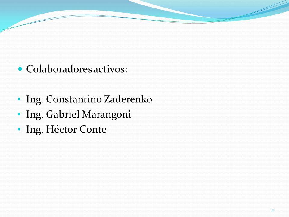 Colaboradores activos: