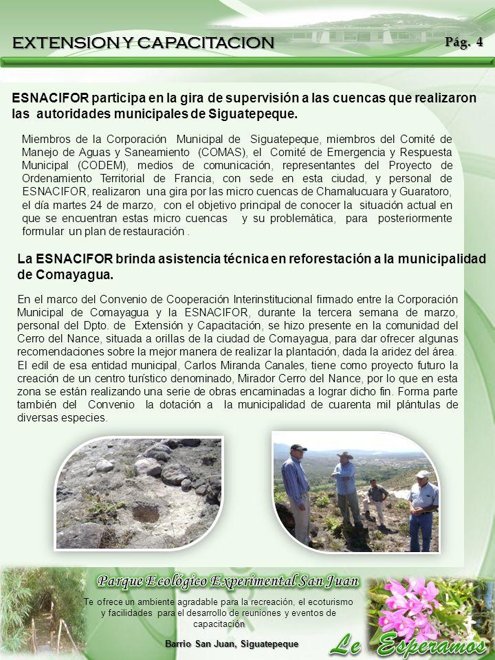 Parque Ecológico Experimental San Juan Barrio San Juan, Siguatepeque