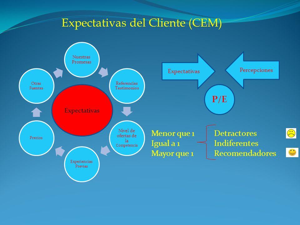 Expectativas del Cliente (CEM)