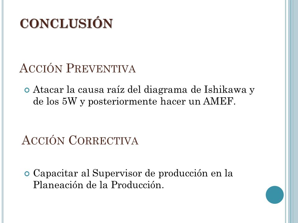 CONCLUSIÓN Acción Preventiva